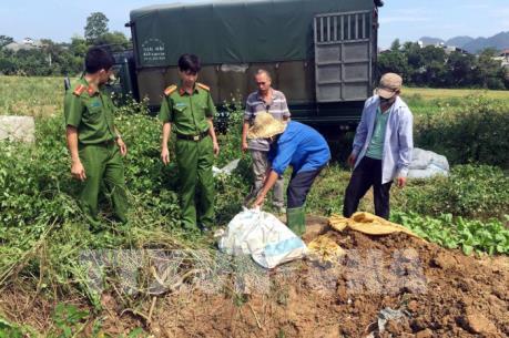Tiêu hủy hơn 1,1 tấn thực phẩm bẩn