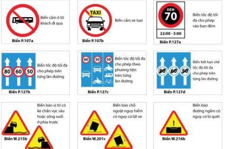 Những biển báo giao thông mới áp dụng từ ngày 1/11/2016