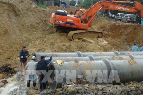 Quảng Nam: Hoàn thành thi công cầu tạm trên Quốc lộ 40B