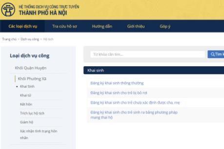 Hà Nội thí điểm áp dụng phần mềm đăng ký khai sinh và cấp số định danh cá nhân