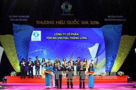 Vinh danh 88 doanh nghiệp đạt Thương hiệu Quốc gia 2016