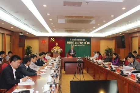 Thông báo Kỳ họp thứ 8 Ủy ban Kiểm tra Trung ương