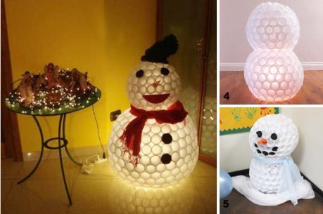 Cách làm người tuyết trang trí Noel cực đơn giản