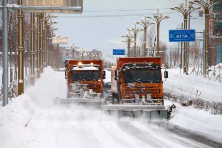 Trung Quốc giải cứu hàng trăm người bị mắc kẹt do bão tuyết