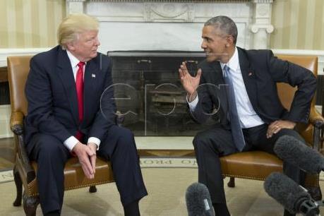 Mỹ: Ông Trump và ông Obama điện đàm hòa giải