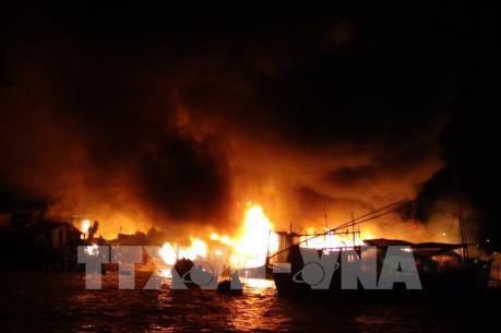 Cháy tàu cá ở Quảng Ngãi, thiệt hại hơn 3 tỷ đồng
