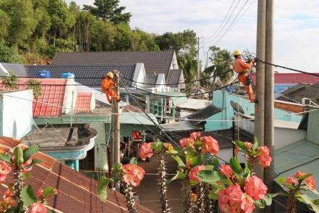 558 hộ dân trên đảo Sơn Hải được sử dụng điện lưới quốc gia