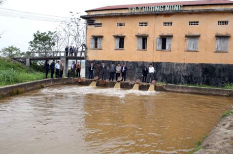 Gần 90% diện tích đã có nước gieo cấy vụ Đông Xuân