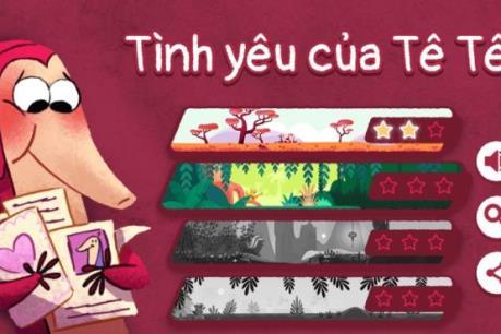 Google tung mini game tê tê siêu đáng yêu dịp Valentine
