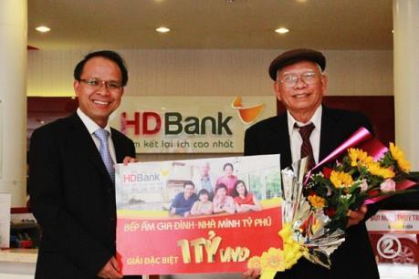 Cơ hội trúng 1 ký vàng SJC từ HD Bank