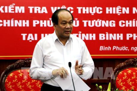 Chính phủ chỉ đạo 5 vấn đề quan tâm ở Bình Phước