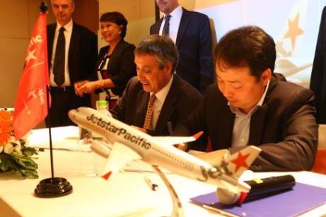Jetstar Pacific và Tập đoàn Hàng không Pháp ký hợp đồng cung cấp thiết bị vật tư máy bay