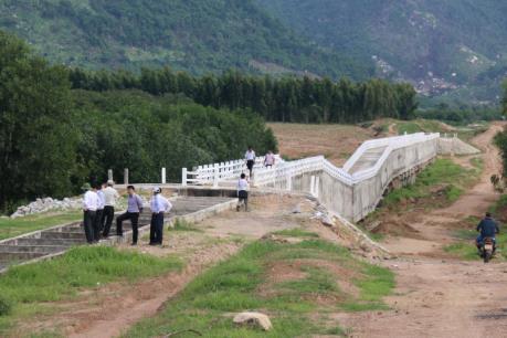 Xác định nguyên nhân sập cầu máng công trình hồ chứa nước Sông Dinh 3