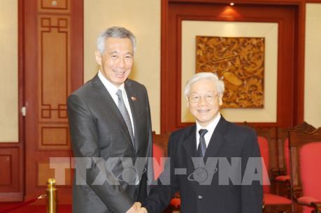 Tổng Bí thư Nguyễn Phú Trọng tiếp Thủ tướng Singapore Lý Hiển Long