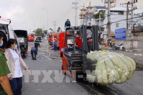 Khống chế hoàn toàn vụ cháy lớn tại Công ty Kwong Lung- Meko, Cần Thơ