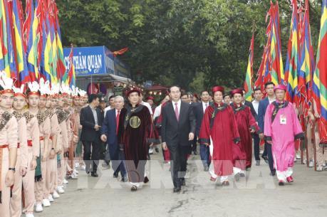 Chủ tịch nước Trần Đại Quang dự Lễ Giỗ Tổ Hùng Vương năm Đinh Dậu 2017