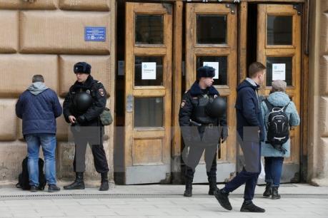 Vụ tấn công tàu điện ngầm tại Nga: Đã bắt giữ thêm một số nghi phạm
