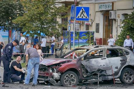 Nổ lớn tại trung tâm thủ đô Ukraine