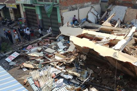 Sập nhà tại Bình Đinh, một người chết