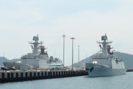 Biên đội tàu Hải quân Trung Quốc thăm Cảng quốc tế Thành phố Hồ Chí Minh