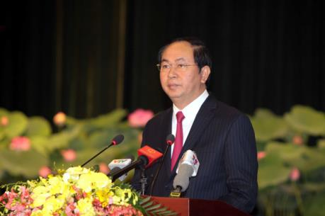 Chủ tịch nước Trần Đại Quang trả lời phỏng vấn báo chí Trung Quốc