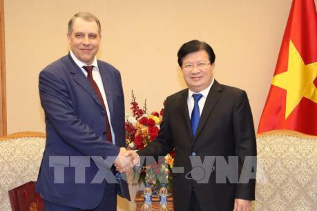 Phó Thủ tướng Trịnh Đình Dũng: Khuyến khích Nga mở rộng đầu tư vào lĩnh vực dầu khí