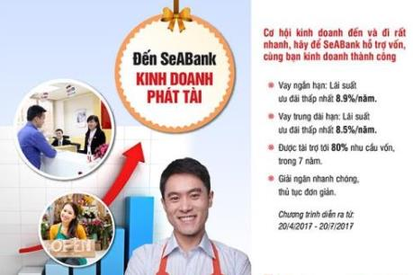 SeABank triển khai chương trình ưu đãi lãi suất cho vay hấp dẫn