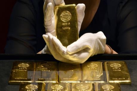Giá vàng thế giới mất đà khi chứng khoán Mỹ lập kỷ lục mới