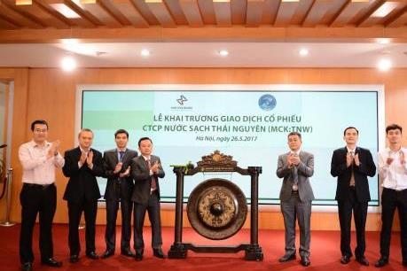 16 triệu cổ phiếu Công ty cổ phần Nước sạch Thái Nguyên giao dịch trên UPCoM