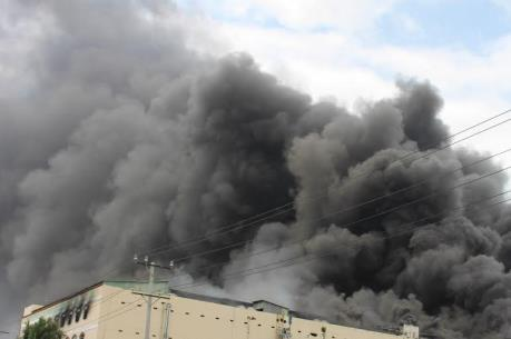 Hải Phòng: Cháy lớn tại Công ty cổ phần cáp điện và hệ thống Ls-Vina