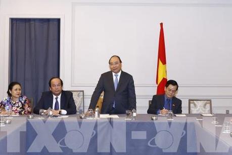 Thủ tướng Nguyễn Xuân Phúc tiếp một số doanh nhân, trí thức gốc Việt tại Hoa Kỳ