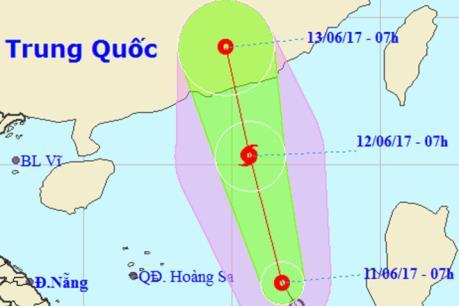 Dự báo thời tiết hôm nay 12/6: Bão số 1 sẽ suy yếu thành áp thấp nhiệt đới