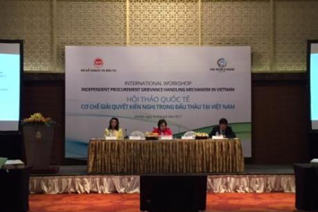 Đề xuất cơ chế giải quyết kiến nghị trong đấu thầu tại Việt Nam