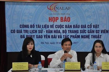 Hà Nội công bố bán đấu giá cổ vật có giá trị lịch sử