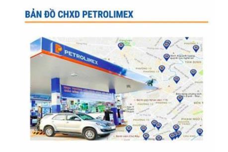 Petrolimex ra mắt tiện ích bản đồ cửa hàng xăng dầu