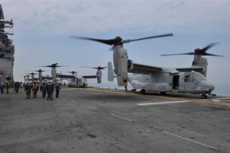 Máy bay của quân đội Mỹ bị rơi ngoài khơi Australia