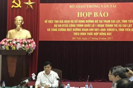 Mức phí dự án Cai Lậy cao hơn dự án cao tốc Tp. Hồ Chí Minh -Trung Lương