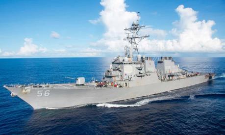 Tàu khu trục Mỹ va chạm với tàu thương mại ở phía Đông Singapore
