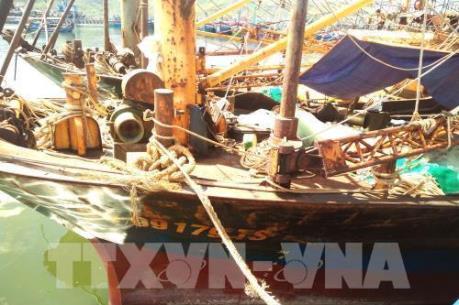 Nhiều tàu vỏ thép bị hư hỏng vẫn chưa được sửa chữa