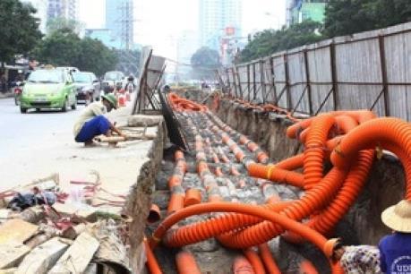 Trung tâm Hà Nội sẽ hạ ngầm 100% mạng cáp viễn thông
