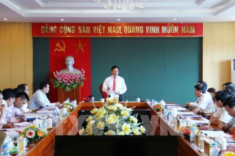 Phó Thủ tướng Phạm Bình Minh làm việc về một số dự án trọng điểm tại Thái Nguyên