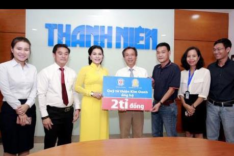Báo Thanh Niên và Quỹ từ thiện Kim Oanh chung tay vì học sinh nghèo hiếu học