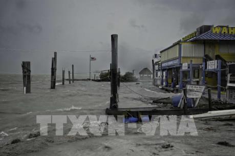 Siêu bão Irma mang gió mạnh kèm mưa lớn quét qua bang Florida, Mỹ