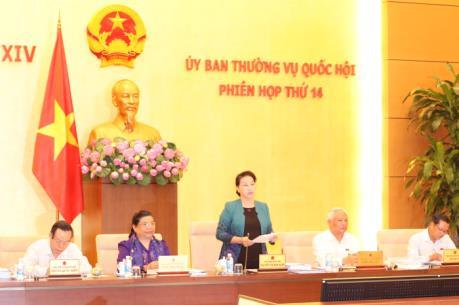 Phiên họp thứ 14 Ủy ban Thường vụ Quốc hội bàn về 10 dự án luật