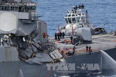 Hải quân Mỹ cách chức hai chỉ huy cấp cao sau các vụ va chạm tàu khu trục