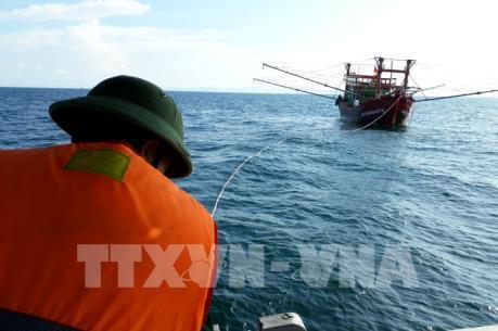 Cứu hộ thành công tàu cá cùng 10 ngư dân trôi dạt trên biển