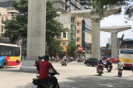 Tiềm ẩn nguy cơ mất an toàn giao thông tại Dự án đường sắt đô thị Nhổn - ga Hà Nội