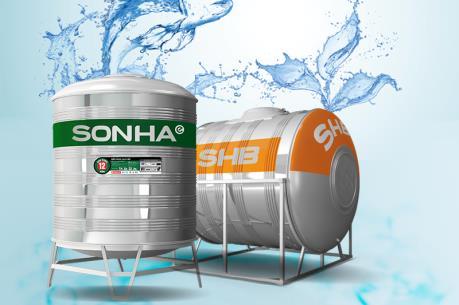 Tập đoàn Sơn Hà tung ra thị trường 2 sản phẩm bồn nước inox mới