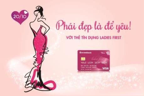 Sacombank ưu đãi đặc biệt cho chủ thẻ Visa Ladies First nhân dịp 20/10