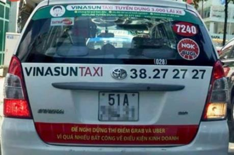 Vinasun cam kết bóc hết decal phản đối Uber và Grab trong ngày 10/10